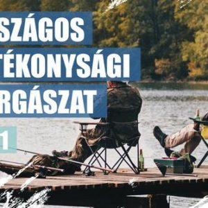 Országos jótékonysági horgászat Keszthelyen is, a Központi Strandon 2021. szeptember 11-én.